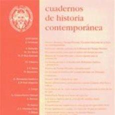 Libros: CUADERNOS DE HISTORIA CONTEMPORÁNEA - NÚMERO 20, 1998. Lote 207682612