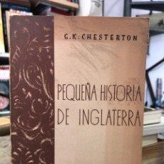 Libros: PEQUEÑA HISTORIA DE INGLATERRA. Lote 208462716