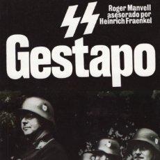 Libros: GESTAPO SS. MANVELL,R. SAN MARTIN, S.L.,EDITORIAL. Lote 215322375
