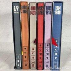 Libros: EDICIONES DEL TIEMPO: DE LA PREHISTORIA AL MUNDO CONTEMPORÁNEO. DIFUSORA INTERNACIONAL,1979 COMPLETA. Lote 216811185