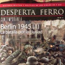 Libros: DOS O MAS REVISTAS, ENVÍO GRATIS. DESPERTA FERRO CONTEM.39. BERLÍN 1945 LA BATALLA POR LA CIUDAD. Lote 276155498