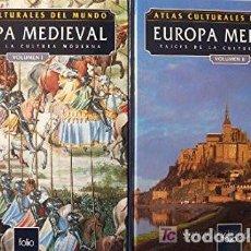 Libros: ATLAS CULTURALES DEL MUNDO ( EUROPA MEDIEVAL VOL 1 Y 2 ). Lote 218098635