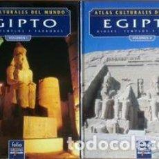 Libros: ATLAS CULTURALES DEL MUNDO ( EGIPTO VOL 1 Y 2). Lote 218099542