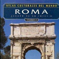 Libros: ATLAS CULTURALES DEL MUNDO ( ROMA VOL 1 ). Lote 218100380
