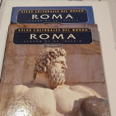 Libros: ATLAS CULTURALES DEL MUNDO ( ROMA VOL 1 Y 2 ). Lote 218100435