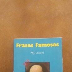 Libros: FRASES FAMOSAS (SER O NO SER) M.J.LLORENS. Lote 222203248