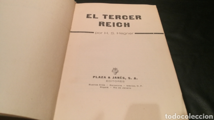 Libros: EL TERCER REICH POR H.S.HEGNER - PLAZA & JANES - Foto 4 - 222924006