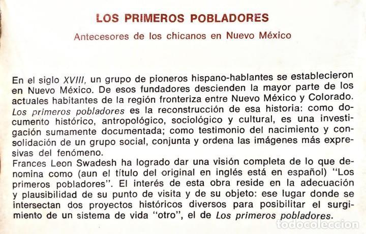 Libros: LOS PRIMEROS POBLADORES.ANTECEDENTES DE LOS CHICANOS EN NUEVO MUNDO.FRANCES LEON .EDICION ILUSTRADA - Foto 3 - 233925540