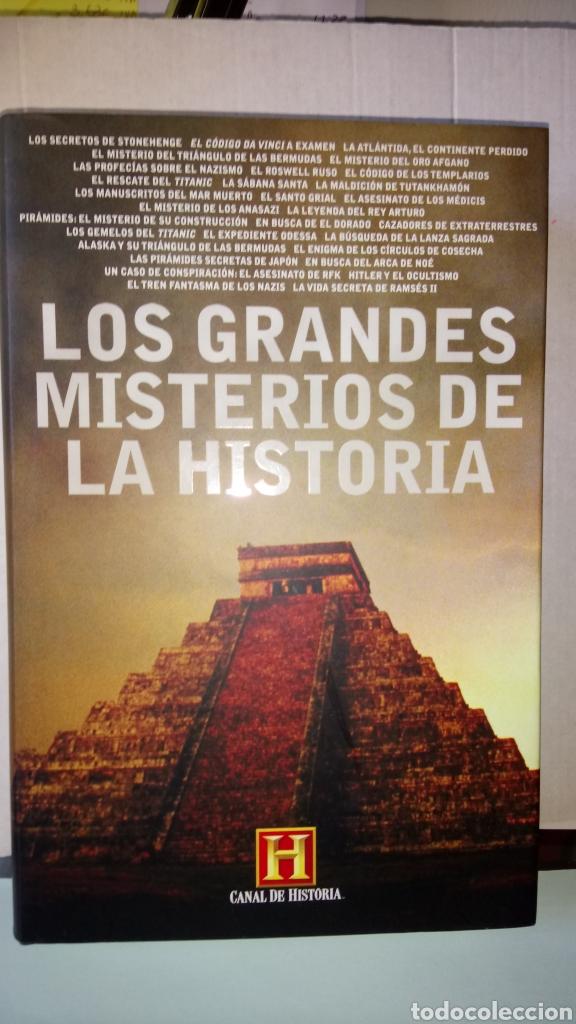 LIBRO LOS GRANDES MISTERIOS DE LA HISTORIA. CANAL DE HISTORIA. EDITORIAL PLAZA JANES. AÑO 2008. (Libros Nuevos - Historia - Historia Universal)