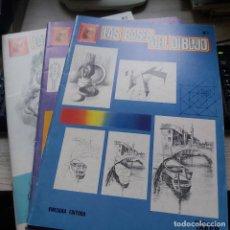 Libros: LAS BASES DEL DIBUJO VOLUMEN I , II Y III OBRA COMPLETA ENCUADERNACIÓN DE TAPA BLANDA. CONDICIÓN: BI. Lote 239750690