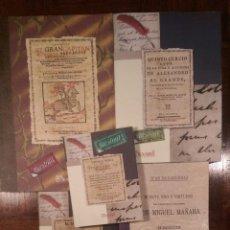 Libros: 5 LIBROS FACSÍMILES RELATIVOS A LA HISTORIA. GRAN CAPITÁN ALEJANDRO MAGNO MIGUEL DE MAÑARA. Lote 248578555