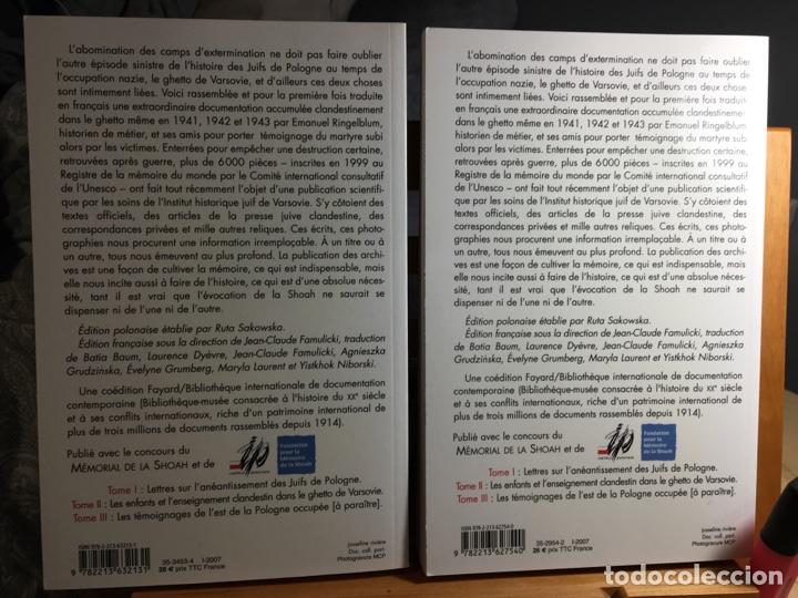 Libros: Archives clandestines du ghetto de varsovie - tome 1 et 2. Archives Emanuel Ringelblum - Foto 2 - 260507470