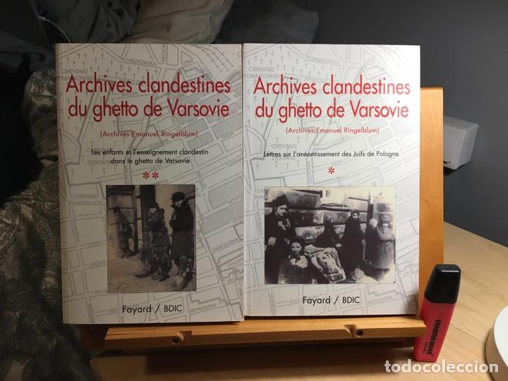 ARCHIVES CLANDESTINES DU GHETTO DE VARSOVIE - TOME 1 ET 2. ARCHIVES EMANUEL RINGELBLUM (Libros Nuevos - Historia - Historia Universal)