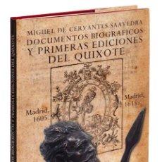 Libros: MIGUEL DE CERVANTES. DOCUMENTOS BIBLIOGRÁFICOS Y PRIMERAS EDICIONES DEL QUIXOTE. Lote 270687388