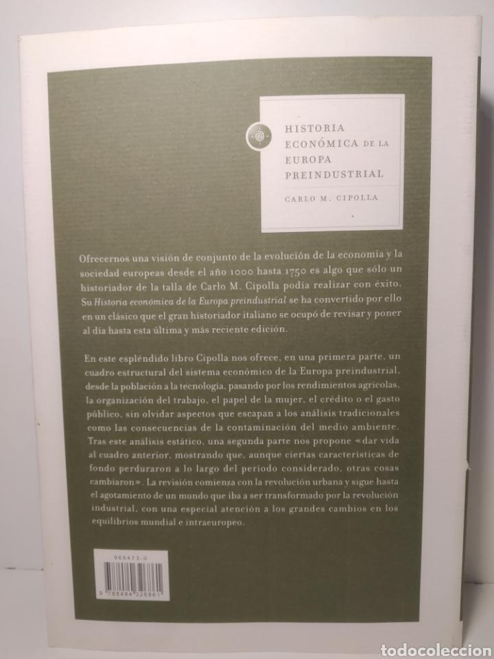 Libros: Historia económica de la Europa preindustrial Carlo M. Cipolla - Foto 2 - 287047073
