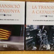 Libros: LA TRANSICIÓ A CATALUNYA. 1975-1984. OBRA COMPLETA / EDICIONS 62 - 2 TOMOS PRECINTADOS.. Lote 57525054