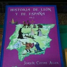 Libros: HISTORIA DE LEÓN Y DE ESPAÑA. VOLUMEN 1 AUTOR JOAQUÍN CUEVAS . Lote 98234970