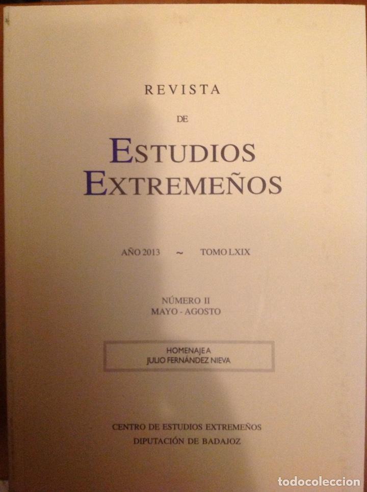 REVISTA DE ESTUDIOS EXTREMEÑOS AÑO 2013 TOMO II (Libros Nuevos - Historia - Otros)