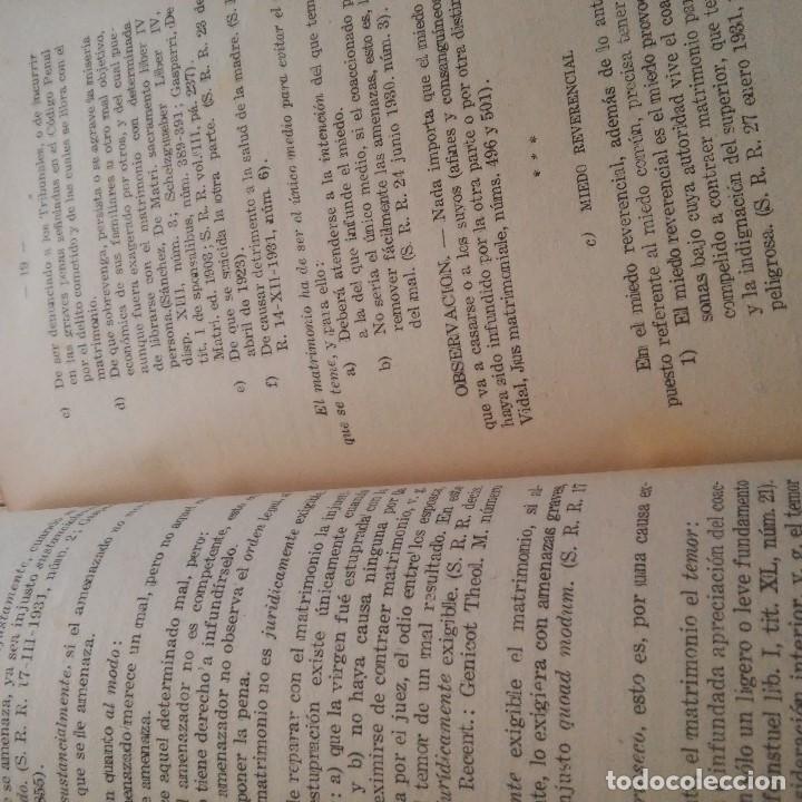 Libros: TARRAGONA - 1944 - FRANCISCO VIVES RECASENS PBRO. - LEGISLACION CANONICO-CIVIL SOBRE AS. MATRIMONIAL - Foto 3 - 95392779