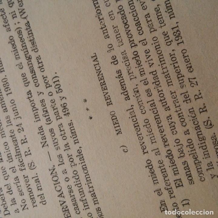 Libros: TARRAGONA - 1944 - FRANCISCO VIVES RECASENS PBRO. - LEGISLACION CANONICO-CIVIL SOBRE AS. MATRIMONIAL - Foto 4 - 95392779