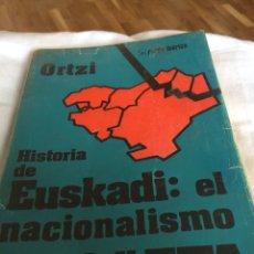 Libros: 1975 ORTZI HISTORIA DE EUSKADI. Lote 114085966