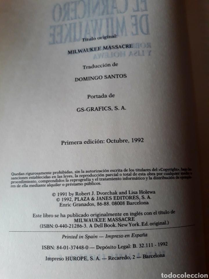 Libros: LIBRO El Carnicero de Milwaukee 1° EDICIÓN 1992 - Foto 2 - 116595666