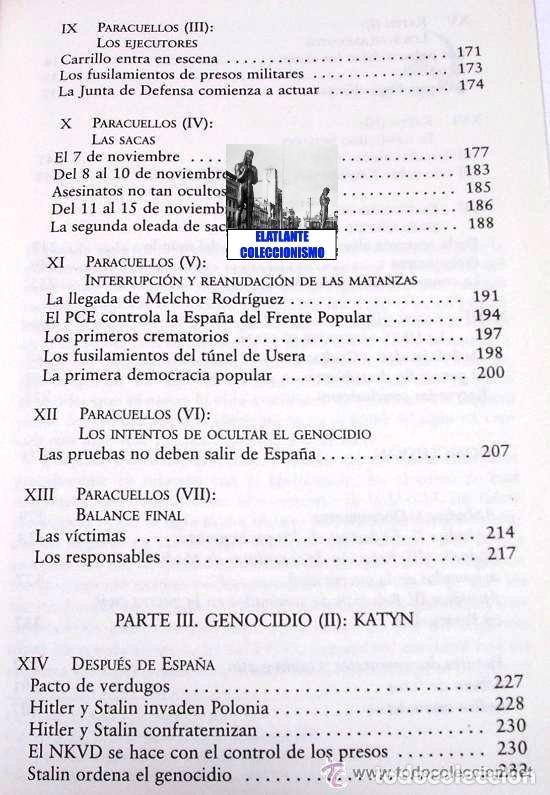 Libros: PARACUELLOS - KATYN - UN ENSAYO SOBRE EL GENOCIDIO DE LA IZQUIERDA - CÉSAR VIDAL TERROR ROJO CHECAS - Foto 11 - 122968423