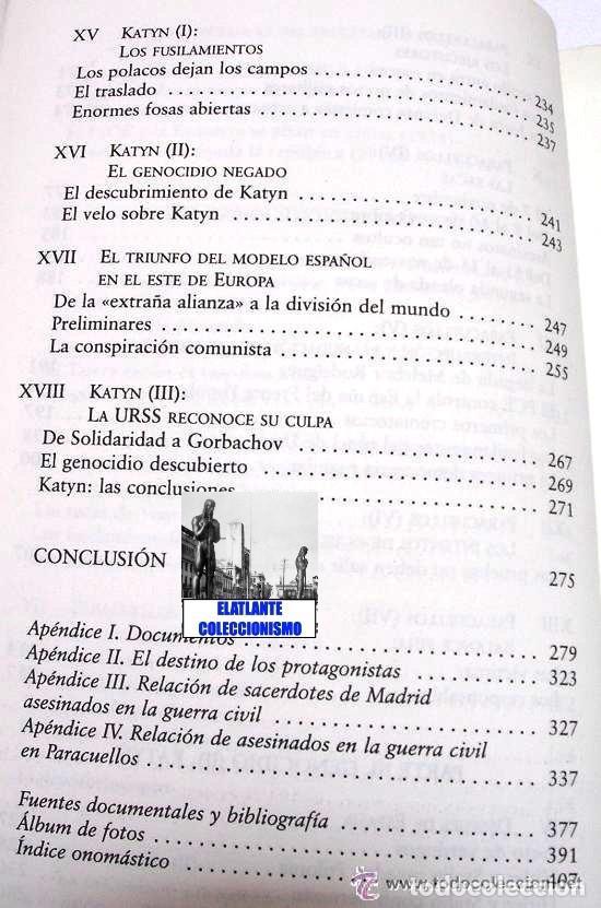 Libros: PARACUELLOS - KATYN - UN ENSAYO SOBRE EL GENOCIDIO DE LA IZQUIERDA - CÉSAR VIDAL TERROR ROJO CHECAS - Foto 13 - 122968423