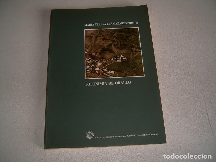 LIBRO TOPONIMIA DE ORALLO (Libros Nuevos - Historia - Otros)