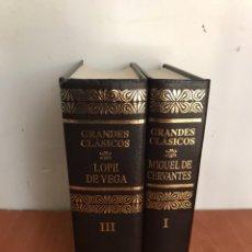 Libros: MIGUEL DE CERVANTES Y LOPE DE VEGA - TOMO I Y III GRANDES CLÁSICOS OBRAS SELECTAS AGUILAR 1991. Lote 131072380