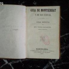 Libros: BALAGUER. MONTSERRAT. HISTORIA CATALANA.. Lote 131576282