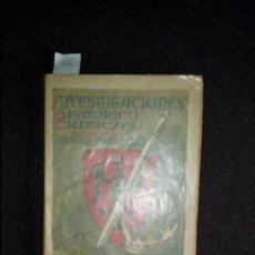 Libros: LUIS DEL CAMPO. INVESTIGACIONES HISTÓRICO-CRÍTICAS ACERCA DE LA DINASTÍA PIRENAICA. Lote 136805782