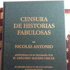 Libros: CENSURA DE HISTORIAS FABULOSAS. Lote 140494776