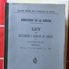 Libros: BOLETÍN OFICIAL DE LA PROVINCIA DE CUENCA 1896. Lote 142435164