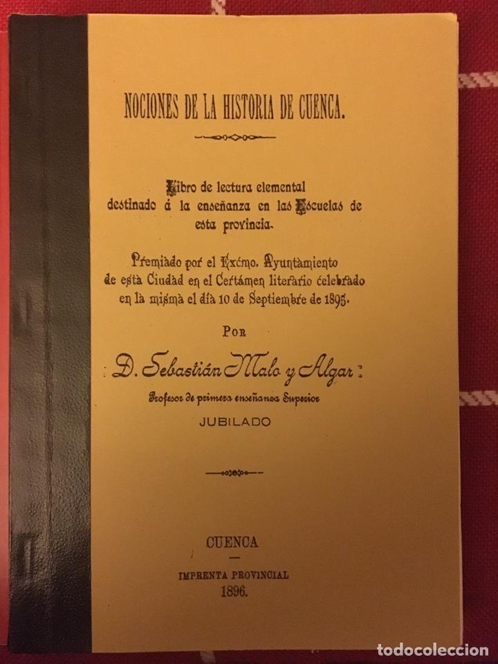 NOCIONES PARA LA HISTORIA DE CUENCA 1896 (Libros Nuevos - Historia - Otros)