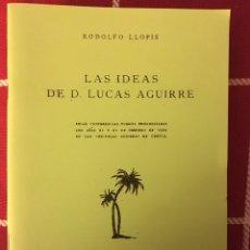 Libros: LAS IDEAS DE LUCAS AGUIRRE 1924 RODOLFO LLOPIS ( CUENCA). Lote 157761392