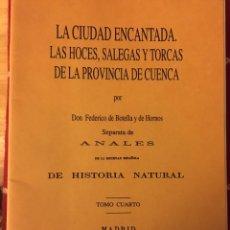 Libros: LA CIUDAD ENCANTADA CUENCA 1875. Lote 157760570