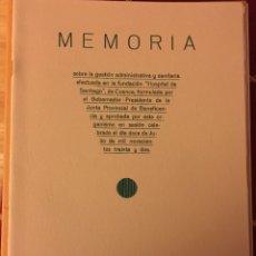 Libros: MEMORIA ( CUENCA) 1932. Lote 157761268