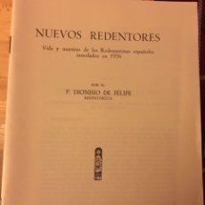 Libros: NUEVOS REDENTORES ( CUENCA)1936 SAN FELIPE. Lote 157761462
