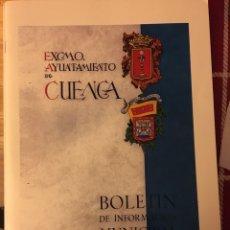 Libros: BOLETÍN MUNICIPAL CUENCA. Lote 145189017