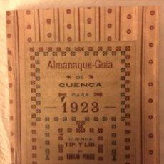 Libros: ALMANAQUE GUÍA 1923 CUENCA. Lote 145191441