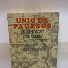 Libros: BJS.UNIO DE LOS PAGESOS.EDT, 7X7... Lote 146222870