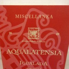 Libros: BJS.AQUALATENSIA IGUALADA.EDT, AJUNTAMENT DE IGUALADA... Lote 154089234