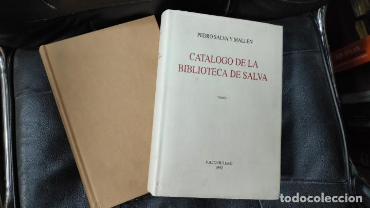 CATALOGO DE LA BIBLIOTECA DE SALVA 2 TOMOS EDICION FACSIMIL (Libros Nuevos - Historia - Otros)