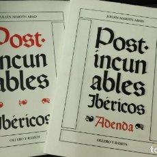 Libros: POST-INCUNABLES IBERICOS+POST-INCUNABLES IBERICOS AGENDA (LOTE COMPUESTO POR 2 TOMOS ). Lote 162143530