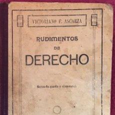 Libros: LIBRO RUDIMENTOS DE DERECHO. Lote 162463649