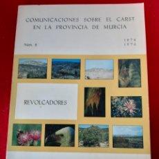 Libros: LIBRO DE MURCIA COMUNICACIONES SOBRE EL CARST EN LA PROVINCIA DE MURCIA N. 2. Lote 168855545