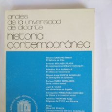 Libros: ANALES DE LA UNIVERSIDAD DE ALICANTE. HISTORIA CONTEMPORÁNEA. Nº1 .. Lote 172715753