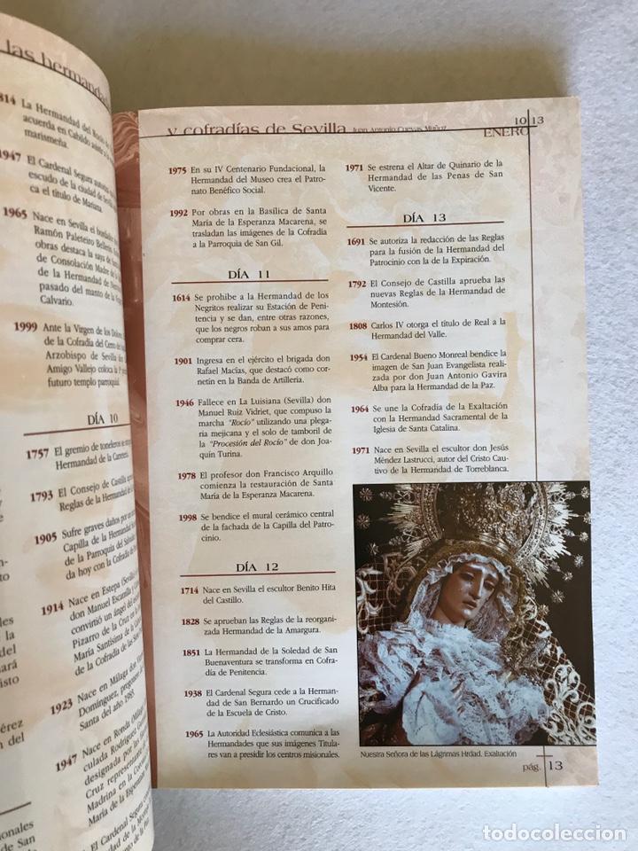 Libros: SEMANA SANTA SEVILLA. EFEMÉRIDES DE LAS HERMANDADES Y COFRADÍAS DE SEVILLA. Año 2002. - Foto 4 - 174386819
