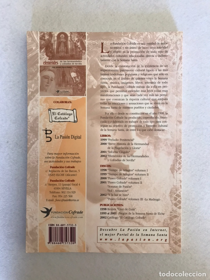 Libros: SEMANA SANTA SEVILLA. EFEMÉRIDES DE LAS HERMANDADES Y COFRADÍAS DE SEVILLA. Año 2002. - Foto 8 - 174386819